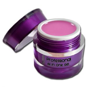 15ml Professional UV Gel ALL IN ONE Rosa  1-Phasengel Mittelviskos