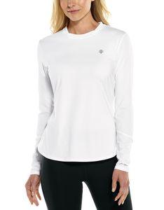 Coolibar - UV-Sportshirt für Damen - Langärmlig - Match Point - Weiß, XXL