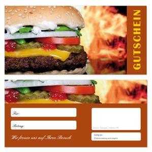200 Stück Geschenkgutscheine (Hamburger-684) Gutscheine Gutscheinkarten für Gastronomie Bereiche wie Restaurant Gaststätte Lieferdienst