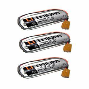 3 Pack TOSHIBA ER17500V 3.6V 2000mAh PLC Battery with Plug