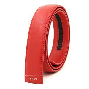 Herrengürtel Ersatz für Automatik Gürtelband ohne Schnalle Rot 110cm