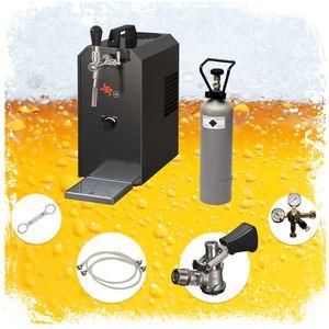 Komplett Set - Zapfanlage JET 30 Bierkoffer, Durchlaufkühler 1-leitig Trockenkühler, bis zu 35 Liter/h, Zapfkopf:ohne