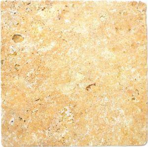 Fliese Travertin Naturstein gelb Fliese Gold Antique Travertin MOSF-45-51030