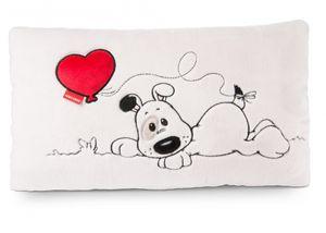 Nici 46080 Kissen Love Hund mit Herz-Ballon rechteckig 43x25cm Plüsch