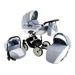 Kinderwagen Buggy Babywanne Schwenkreifen Ottis White by SaintBaby White OW-01 3in1 mit Babyschale