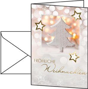 sigel Weihnachtskarte Glowing Christmas Tree A6 220 g/qm 10 Karten