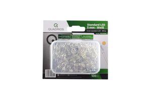 Standard-LED-Set Warm-Weiß 5 mm Leuchtdioden und Doku (100 Stück) Superhell