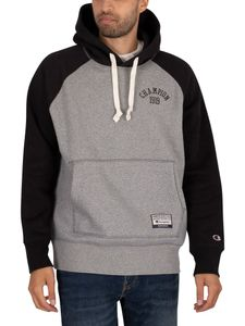 Champion Herren Brust-Logo Pullover Hoodie, Grau XL