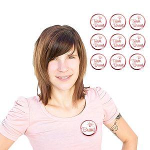 Oblique Unique Button Set JGA Junggesellinnenabschied Rosé - 1x Braut / 9x Team Braut