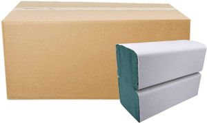 Falthandtücher Grün Premium | 5.000 Blatt | 25 x 23 cm 1-lagig Recycling | ZZ/V-Falz Papierhandtücher geeignet für Handtuchspender | Ideal für Gastronomie, Krankenhäuser, Praxen uvm.