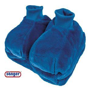 Fußwärmer mit Wärmflasche blau Füße warmhalten