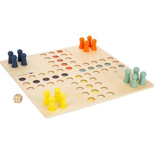 small foot 11783 Ludo XL aus Holz für vier Spieler, Gesellschaftsspiel für die ganze Familie im Großformat, ab 4 Jahren