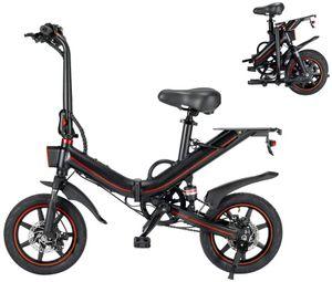 LANKELEISI Elektrofahrräder Ebike Mountainbike, 14 Zoll Elektrisches Fahrrad mit 48V 15Ah Lithium-Akku, 100 Km Reichweite, Elektrische Klappfahrrad für Erwachsene Herren Damen Pendeln