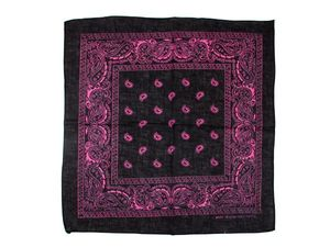 Bandana Zandana schwarz pink Paisley 100% Baumwolle 177