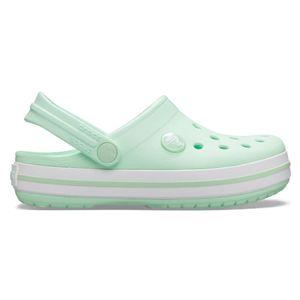 Crocs Crocband Clog K Kinder Junior Clog Relaxed Fit 204537-3TI Hellgrün, Schuhe:25/26 EU