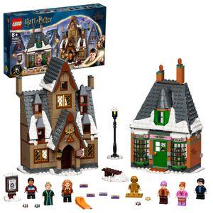 LEGO 76388 Harry Potter Besuch in Hogsmeade Spielzeug ab 8 Jahre, Set zum 20. Jubiläum mit Ron als goldene Minifigur
