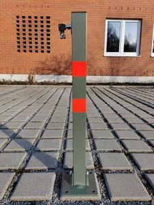 Parkplatzsperre PARK STOP klappbar Klapppfosten Absperrpfosten Poller 66cm Eckig