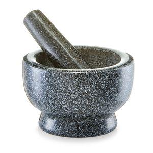 Zeller Mörser & Stößel-Set, Granit, anthrazit Ø13x8