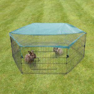 Freilaufgehege für Kleintiere mit Netz und Tür
