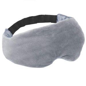Schlafmaske 3D extra weich - grau