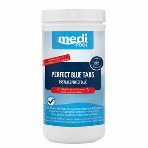 mediPOOL Perfect Blue Tabs 4in1 1 kg, 20 g Chlortabletten, Desinfektion, ph-stabil, Algenverhütung, Poolreinigung