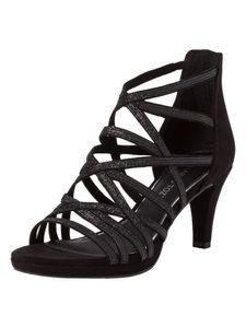 Marco Tozzi Damen Sandalette schwarz 2-2-28373-26 F-Weite Größe: 37 EU