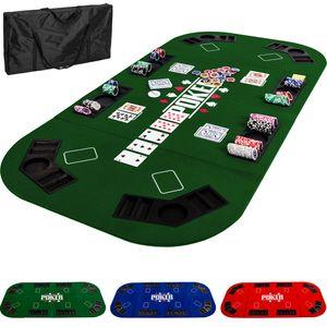 Pokerauflage 160x80cm, Farbe grün
