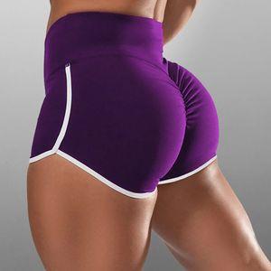 Sexydance  Frauen Yoga Short Beach Hohe Taille Hot Pants,Farbe: Lila ,Größe:M