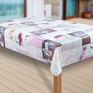 Wachstuch-Tischdecke Wachstischdecke Tischwäsche Abwaschbar Wachstuchdecke, Muster:Orchidee, Größe:140x200 cm