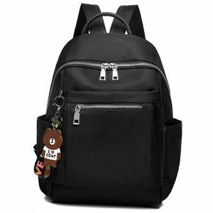 Damen Rucksack Oxfordtuch Reise Schultertasche Damenbackpack mit Kopfhörer Loch