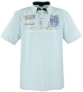 LAVECCHIA Herren Poloshirt Mint Große Größen, Größe:4XL