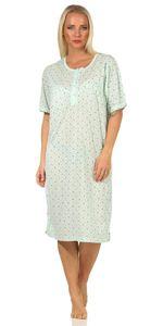 Damen Nachthemd Sleepshirt, Mint XL