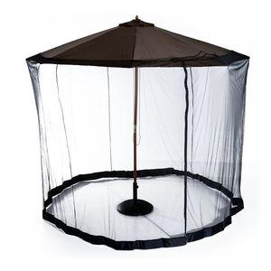 Outsunny Moskitonetz für Sonnenschirm Fliegennetz Mückennetz, Schwarz, Ø3 x H2,3 m