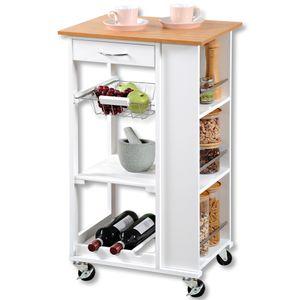 KESPER Küchenwagen, weiß, 50x37 cm, H: 87cm, 2577713