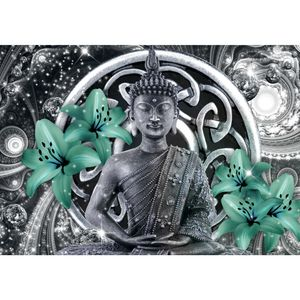 Buddha 9108b RUNA Buddha VLIES FOTOTAPETE XXL DEKORATION TAPETE− WANDDEKO 308 x 220 cm