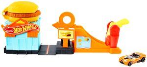 Hot Wheels Hamburger-Stunt Spielset inkl. 1 Spielzeugauto