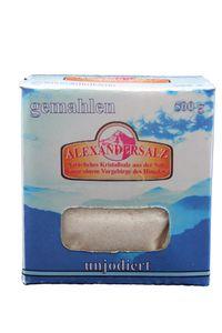 Alexandersalz gemahlen natürliches Kristallsalz 500 g