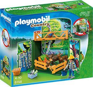 PLAYMOBIL 6158 - Aufklapp-Spiel-Box 'Waldtierfütterung'