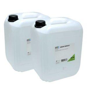 Medicalcorner24 Bidestilliertes Wasser AQUA BIDEST, Laborwasser, Reinst-Wasser, 2x 10 Liter