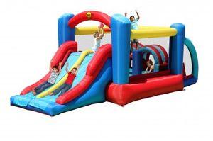 Happy Hop Hüpfburg Spielzeugland Dschini inkl. Gebläse RW-1E, L x B x H: (530, 250, 215) bis zu 5 Kinder; 9163