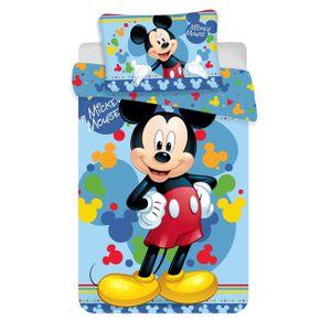 Disney Baby Kinder Bettwäsche Mickey Mouse blau bunt 135x100 60x40