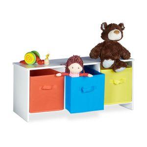 relaxdays Kindersitzbank mit Stauraum ALBUS