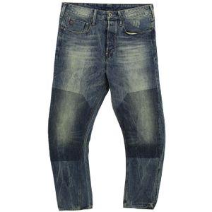 24652 G-Star Raw, Type C 3D Loose Tapered,  Herren Jeans Hose, Denim ohne Stretch, blue destroy, W 34 L 34