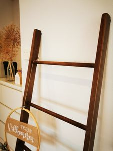 fornera f33 Massivholz Deko Leiter Handtuchleiter, Handtuchhalter, Kleiderständer aus massiven Buchenholz, in Handarbeit fertig montiert, mehrere Farben verfügbar, HxBxT: 170x45x5 cm
