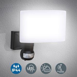 LED Wandleuchte mit Bewegungssensor Außenleuchte Wandlampe schwarz inkl. 20W LED Platine 2300lm 4000K neutralweiß IP44 B.K.Licht