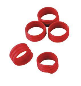 Spiralringe (20 Stück), rot, 16 mm