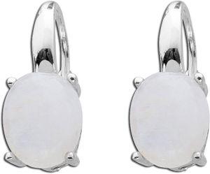 Regenbogenfarbene Mondstein Ohrhänger Edelstein Ohrringe Sterling Silber 925 T-Y