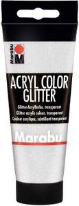Marabu Acrylfarbe Acryl Color 100 ml glitter-silber 582