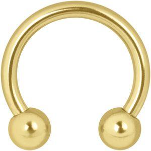 Wildcat Circular Barbells Piercing Ring Gold 750 unterschiedliche Größen und Stabstärken 07