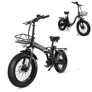 20 zoll Elektrofahrrad Fatbike Klappbar E-Bike E-Faltrad 750w 15Ah 48V Bis 120kg 30-45km/h